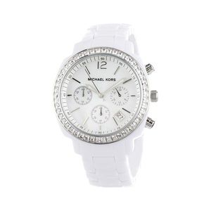 White Acrylic Michael Kors Watch 5079